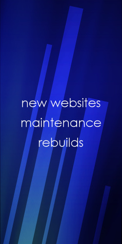New websites, Rebuild, Maintenance